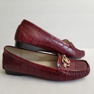 MICHAEL Michael Kors Leather Slip-on Loafers 7.5